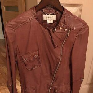 Amazing Leather Karen Millen Jacket Brown Small⭐️